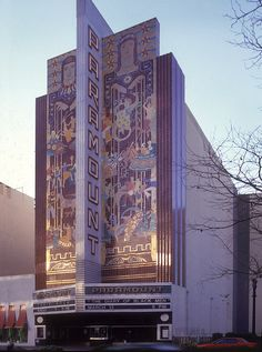 Facade of the Paramount Theater Exterior by bennetthall, 6 x 7 cm film