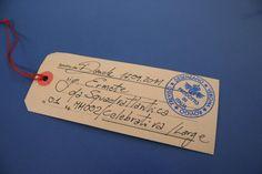 handmate written tag card with the name of the receiver.  -----------------------------------------------  cartellino scritto a mano con il nome del destinatario