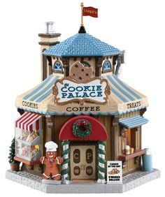 Christmas Deer, Christmas Themes, Christmas Lights, Christmas Crafts, Christmas Decorations, Lemax Christmas Village, Gingerbread Village, Villas, Stocking Holders