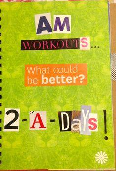2-A-Days!!  Art Journal Page by Rachel Mims  rachelmims.blogspot.com  #fitness #workout #exercise #2ADays