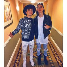 Nash Grier with Hayes at the IHeartRadio 2015