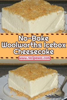 Icebox Desserts, No Bake Desserts, Easy Desserts, Dessert Recipes, Icebox Cake Recipes, Custard Recipes, Baking Desserts, Pie Dessert, Woolworth Icebox Cheesecake Recipe