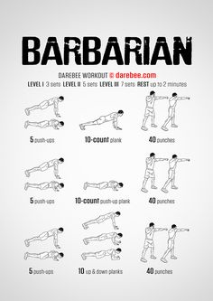 Barbarian Workout - New Ideas Gym Workout Tips, Abs Workout Routines, Fit Board Workouts, Boxing Workout, Workout Challenge, Superhero Workout, Military Workout, Warrior Workout, Martial Arts Workout