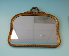 FREE SHIP  Arched Gesso Mirror  Ornate Vintage by LakenessRoad