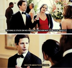 Jake and Amy, Brooklyn nine nine. Via Sapphwrites on tumblr.