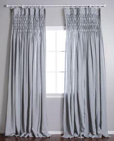 "Pom Pom at Home Smocked Curtain "" Ocean"""
