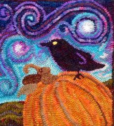 pumpkin & crow with great sky