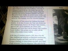 Tainos Spoke Hebrew - YouTube