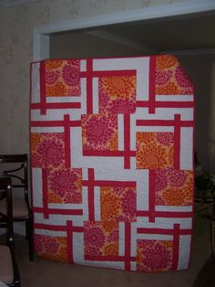 Flannel BQ2 quilt for one of my niece's graduation.