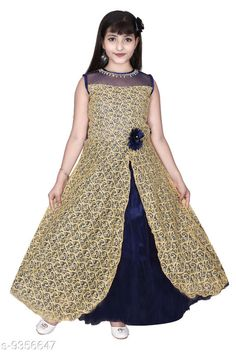 Checkout this latest Frocks & Dresses Product Name: *SNIFFY Kids Beige Party Wear Dress For Girls* Fabric: Net Sleeve Length: Sleeveless Pattern: Lace Multipack: Single Sizes: 3-4 Years (Bust Size: 23 in, Length Size: 31 in)  4-5 Years (Bust Size: 24 in, Length Size: 33 in)  5-6 Years (Bust Size: 25 in, Length Size: 35 in)  6-7 Years (Bust Size: 28 in, Length Size: 37 in)  7-8 Years (Bust Size: 29 in, Length Size: 39 in)  Easy Returns Available In Case Of Any Issue   Catalog Rating: ★4 (301)  Catalog Name: Pretty Stylish Girls Frocks & Dresses CatalogID_1637866 C62-SC1141 Code: 405-9356647-9971