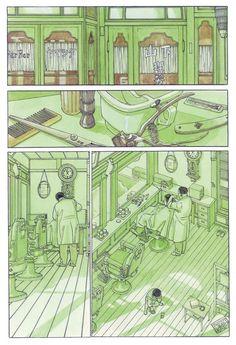 page Le journal de mon père (1994, © Jirô Taniguchi) ) french edition by Casterman, 2000-2007