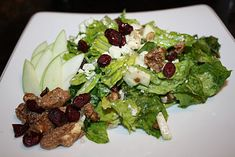 My all-time favorite salad!!! Buca di Beppo copycat Apple Gorgonzola Salad with Italian Vinaigrette.