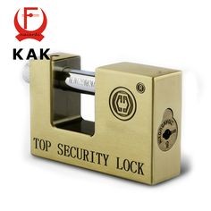 KAK E9 Series Archaize Super B Grade Padlocks Safe Anti-Theft Lock Rustproof Antique Bronze Top Security Locks For Home Hardware