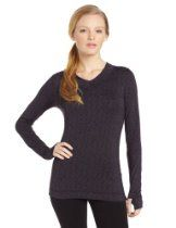 Cuddl Duds Womens Flexfit Long Sleeve V-Neck