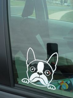 Or this one? The Dex D Boston Terrier Window Decal by MiniFrench on Etsy, $8.00