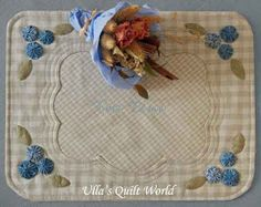 Quilted tablemats, Tea time