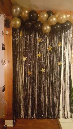 - OKJ Lian ideas for birthday New Years Eve Decorations, Birthday Balloon Decorations, Graduation Decorations, New Years Eve Party Ideas Decorations, Ideas Party, Nye Party, 50th Party, Gold Party, Silvester Diy