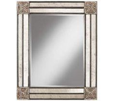 "Casella 36 1/2"" High Pewter Gray Decorative Wall Mirror | 55DowningStreet.com"