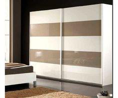 #armoire moderne de couleur Blanche et beige #chambremoderne Jessica Brown, Bedroom Wardrobe, Wardrobes, Beige, Furniture, Home Decor, White Wardrobe, Modern Bedroom, Color