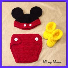Mickey Mouse Baby Crochet Set