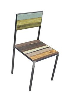 upcycle woodchair with a metal frame