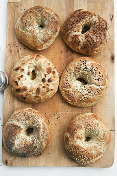 bagels - sheer torture to look at these beauties and know you can't get one like it in Atlanta!!