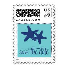 Save the Date Postage with Starfish. This great stamp design is available for customization or ready to buy as is. Of course, it can be sent through standard U.S. Mail. Just click the image to make your own!