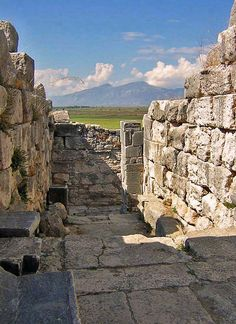 Corridor of the Theatre of Miletus that was once vaulted. Turkey