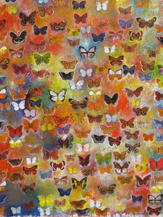 Butterfly painting by artist Bradley Kachnowicz. Saw this in the window of a shop in Durango years ago and still regretting that we didn't buy it.