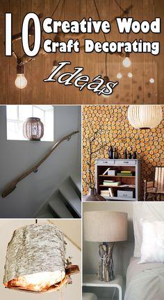 10 Creative Wood Craft Decorating Ideas