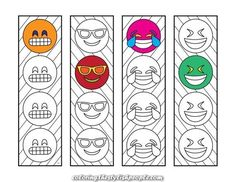 Ten Printable Bookmark Coloring Pages To Inspire Your Kids To Read – Scribble & Stitch Dinosaur Design, Cute Dinosaur, Fun Crafts For Kids, Art For Kids, Emoji Bookmarks, Emoji Coloring Pages, Emoji 2, Heart Bookmark, Emoji Design