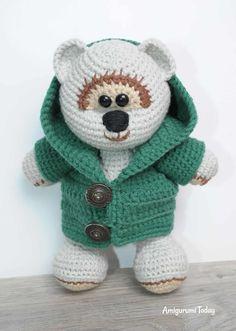 Honey teddy bears in love: crochet pattern - Amigurumi Today Crochet Teddy Bear Pattern, Crochet Bear, Crochet Patterns Amigurumi, Crochet Dolls, Stuffed Animal Patterns, Diy Stuffed Animals, In Natura, Bear Toy, Crochet Projects