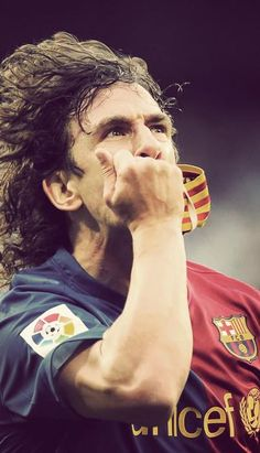Carles Puyol, born 13 April Spanish defender (mainly central defender), FC Barcelona Best Football Players, Good Soccer Players, Football Is Life, World Football, Sport Football, Football Fans, Fc Barcelona, Barcelona Players, Barcelona Football