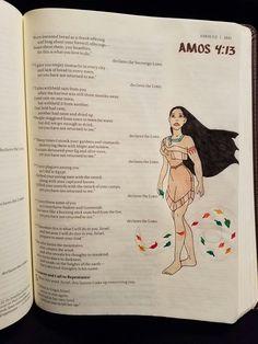 Terra Ragan: Bible Journal - Amos 4:13 Pocahontas Disney