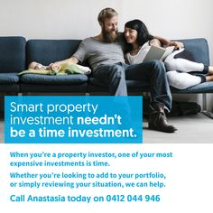 Smart property investment needn't be a time investment. When you're an investor, one of your most expensive investments is time.