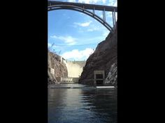 Parker Jax Ward on Colorado River at the Hoover Dam with Black Canyon Ri...