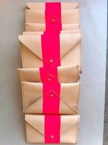 love this hot pink and nude clutch.