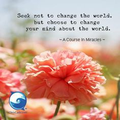 I choose to change my mind about the world...