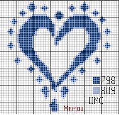 Coeur bleu - NEEDLEPOINT, IN CASE SOMEONE HAS A BOY!