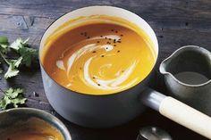 Creamy miso pumpkin soup
