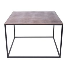 Square Side Table Antique Copper