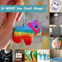50 amazing craft blogs you have to see! - lots of Mod Podge projects