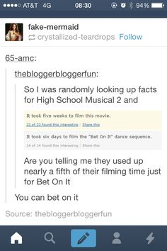 Well they needed to spend more time on it because it was still the worst number in any of the movies. //HSM 2