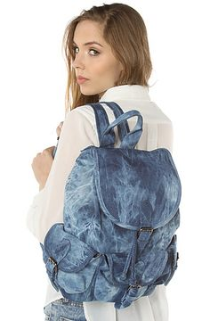 Street Level The Destination Denim Backpack in Tye Dye Blue Coachella Looks, Denim Backpack, Tye Dye, Backpacks, Street, Scrap, Healthy Eating, Bags, Shopping