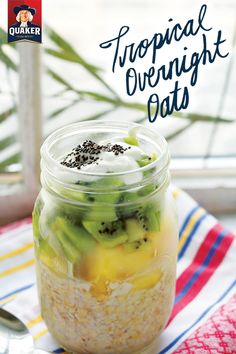 If you can't make it down to a beach this summer, at least get a taste of those delicious island flavors with our Tropical Overnight Oats recipe. On stressful days, a bit of kiwi and pineapple in your overnight oats will take your palate on journey to those relaxing, sunny days by the ocean. Try it and let us know what you think!