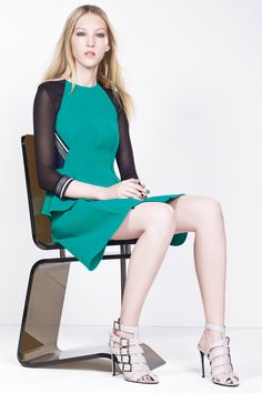 Resort 2016 - The Abinger top in sea green by Roland Mouret #rolandmouret https://www.rolandmouret.com/product/resort2016/