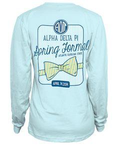 Alpha Delta Pi Formal T-shirt. Very Cute.