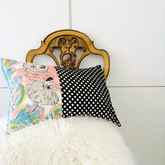 She's Happy Design throw pillow. Perfect for a girl's room!