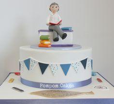 Teacher's cake by Pompom Cakes, via Flickr