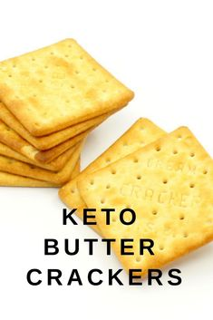 Keto Butter Crackers - These Keto Butter Crackers are the perfect canvas for your favorite dips, spreads, and toppings. They are buttery and . Low Carb Recipes, Diet Recipes, Healthy Recipes, Slimfast Recipes, Cookbook Recipes, Recipies, Galletas Keto, Butter Crackers, Keto Crackers Recipe